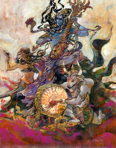 Anahata Shiva in color by Abhishek Singh