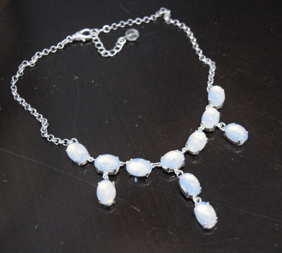 Moonstone Fringe Necklace - Medium Oval