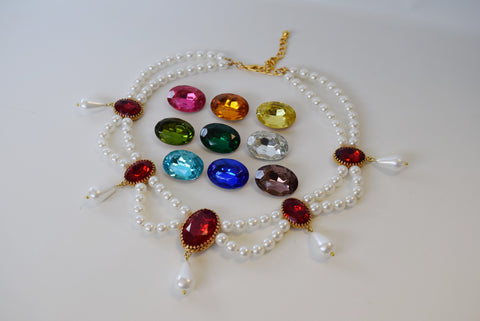 Pearl and Crystal Festoon Necklace
