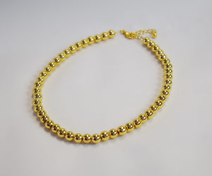 Bright Golden Bead Necklace