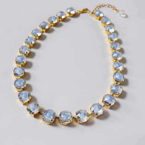 On Sale! Light Blue Givre Collet Necklace - Small Round