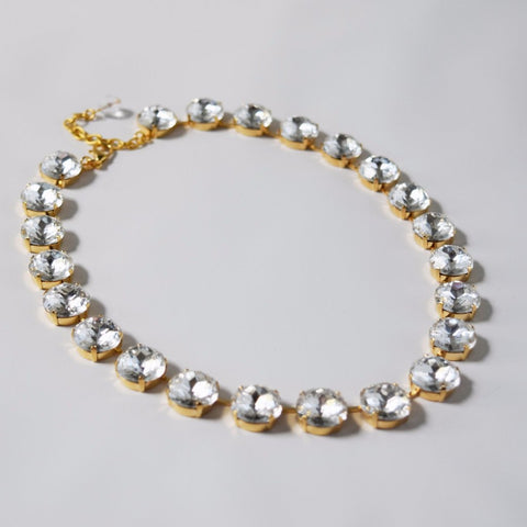 Medium Clear Crystal Riviere Necklace | White Crystal Necklace