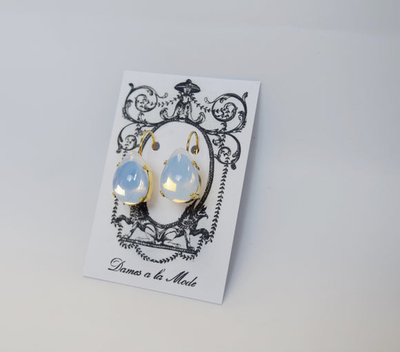 Moonstone Earrings - Large Teardop