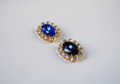 Blue Crystal Cluster Brooch - Queen Victoria Brooch, Prince Albert Brooch