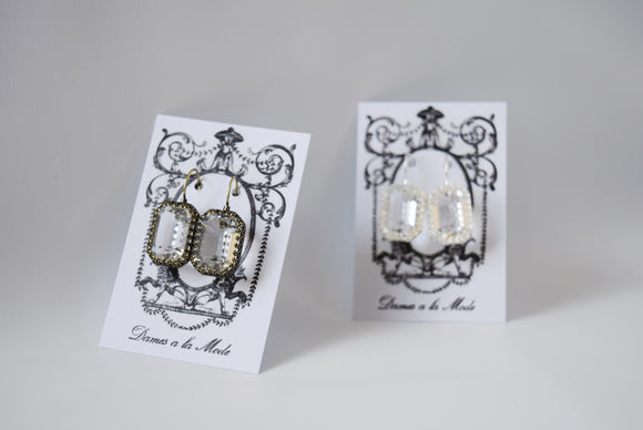 Clear Swarovski Crown Set Earring