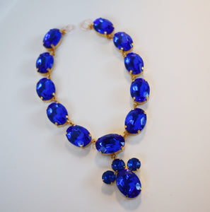 Copley Sapphire Collet Necklace