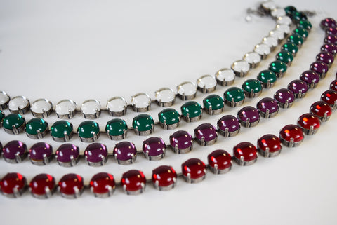Swarovski Mirror Back Necklaces - Small Round - On Sale!