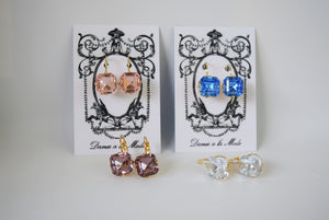 Crystal Earrings - Medium Square