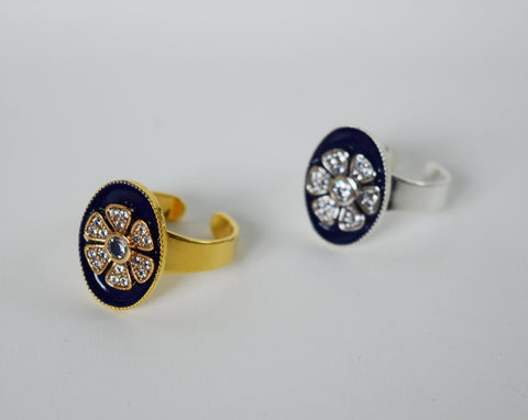 "Faux ""Enamel"" ring  - Flower"