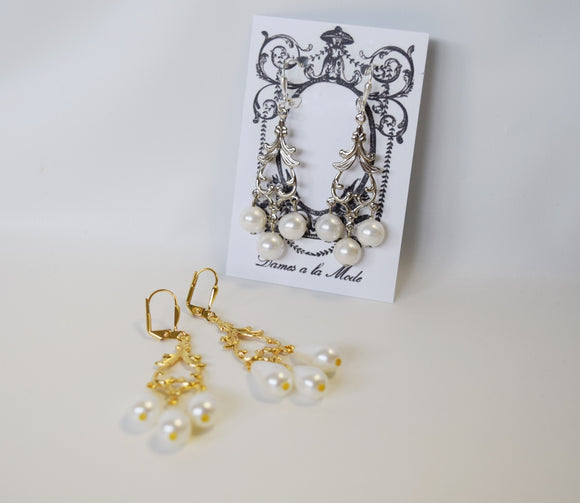 Girandole Pearl Earrings - SALE