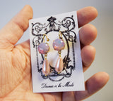 Pink Opal and Pearl Earrings