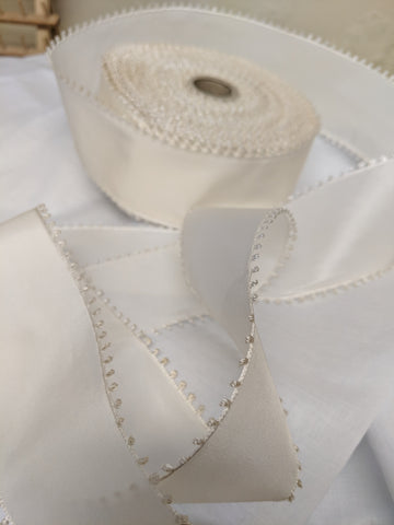 Vintage Cream Picot Ribbon