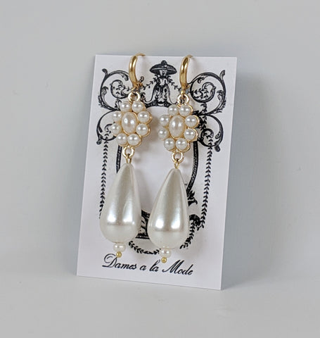 Pearl Cluster Dangles - Large