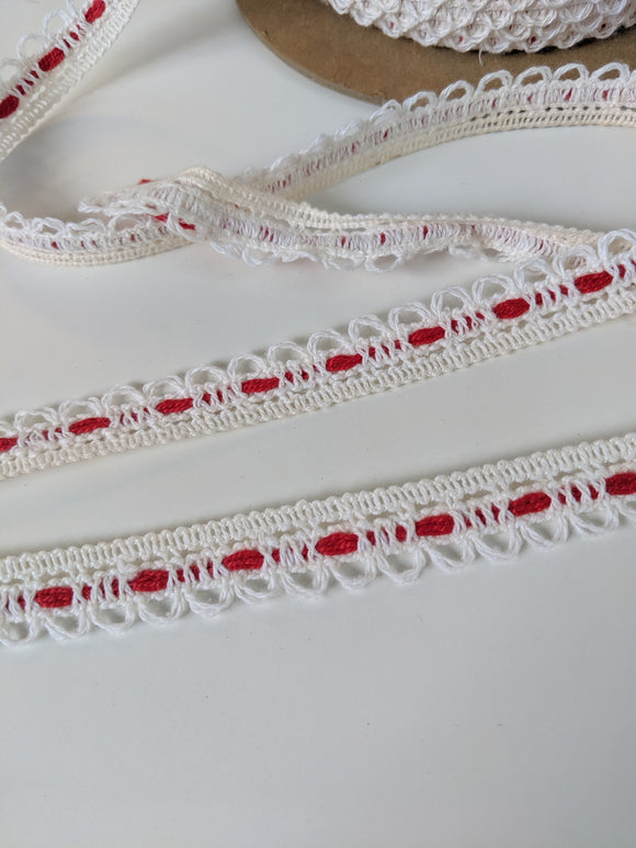Vintage White Cotton Trim