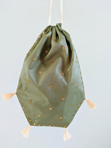 Reticule - Spangled Sage Green