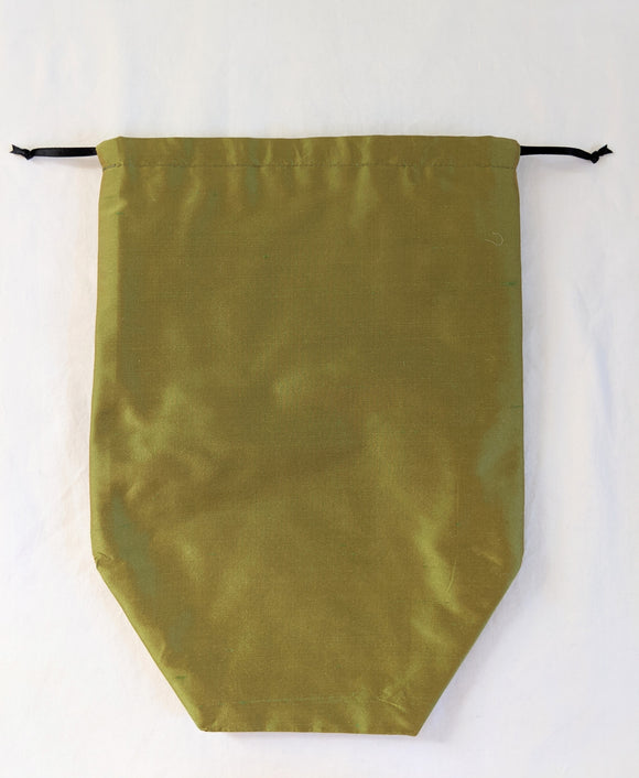 Reticule - Green Shot Silk