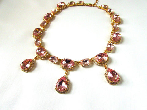 Blush Pink Halo Necklace