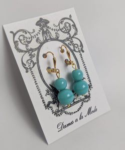 $10 Treats - Small Double Turquoise Earrings