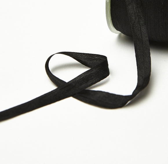 Two Yards Black Silk Ribbon