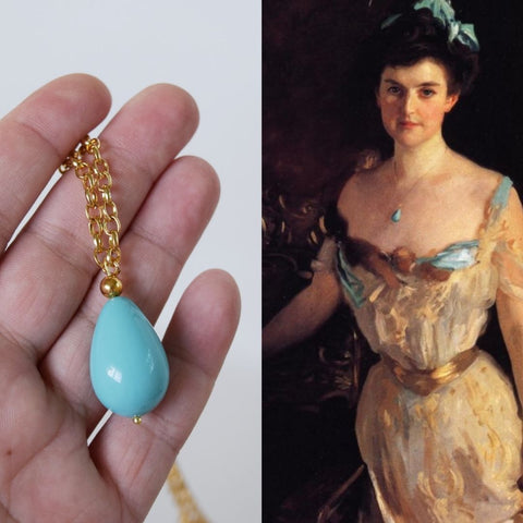 Edwardian Turquoise Pendant Necklace