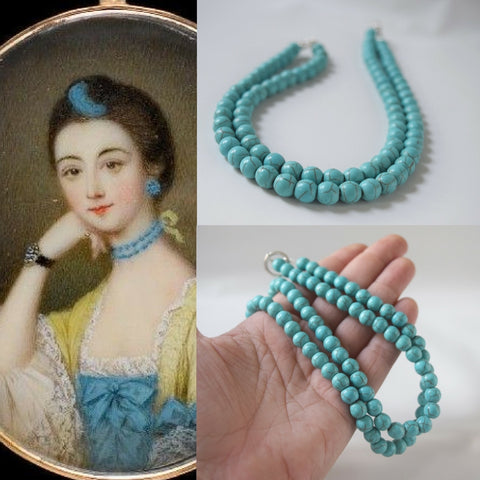 18th Century Turquoise Blue Choker Necklace