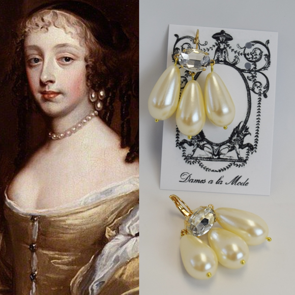 Girandole Earrings - Huge Pearl