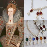 Elizabethan Crystal and Pearl Necklace