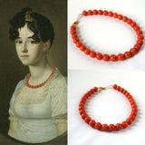 Orange Coral Beaded Necklace - Large