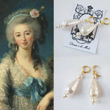 18th Century Large Faux Pearl Dangle Earrings