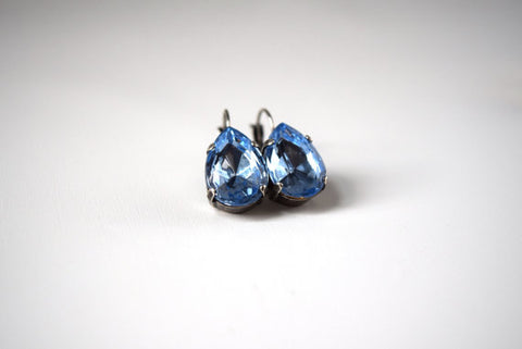 Light Blue Teardrop Earring