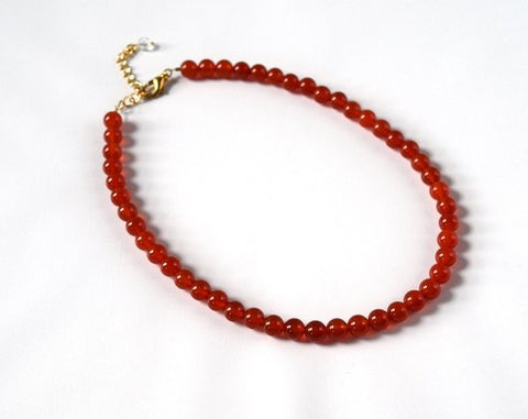 Carnelian Beaded Necklace
