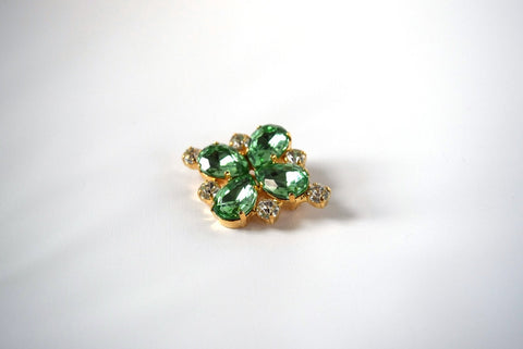 18th Century Style Peridot Paste Brooch