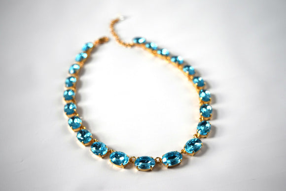 Aquamarine Blue Anna Wintour Necklace