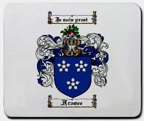 Frasee coat of arms mouse pad