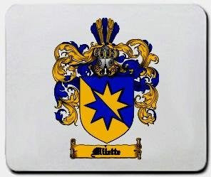 Milette coat of arms mouse pad