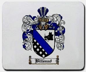 Billeaud coat of arms mouse pad