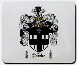 Norrice coat of arms mouse pad