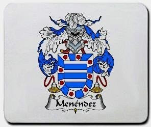 Menendez coat of arms mouse pad