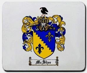 Mcshee coat of arms mouse pad