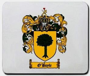 O'boyle coat of arms mouse pad