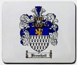 Bromhall coat of arms mouse pad