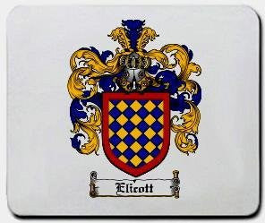 Elicott coat of arms mouse pad