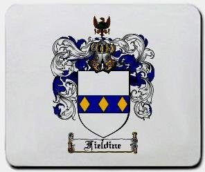 Fieldine coat of arms mouse pad
