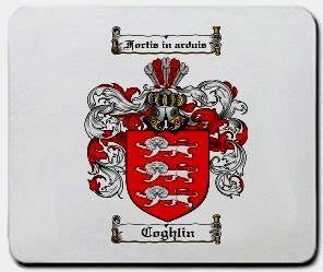 Coghlin coat of arms mouse pad