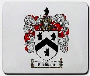 Cleburne coat of arms mouse pad