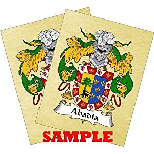 cynthia coat of arms parchment print
