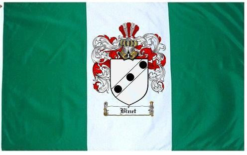 Binet family crest coat of arms flag