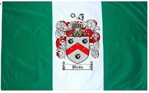 Birtie family crest coat of arms flag