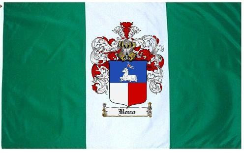 Bono family crest coat of arms flag