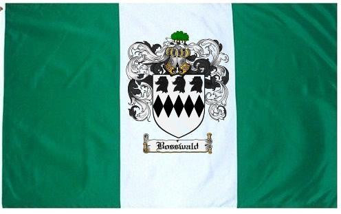 Bosswald family crest coat of arms flag